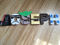 A personal favourite from my Etsy shop https://www.etsy.com/uk/listing/505421384/disney-star-wars-painted-letters-sign