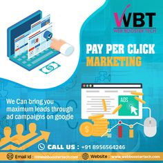 web booster tech is a website designing, web development and best digital marketing company in india providing services as per business need. Online Advertising, Advertising Agency, Pay Per Click Marketing, Best Digital Marketing Company, Seo Strategy, Web Development, Platforms, Budgeting, Investing