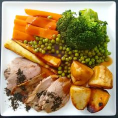 #sundayroast Roast lamb with carrots broccoli parsnips peas roasties mint sauce and gravy (syns)  #slimmingworld #slimmingworlduk #slimmingworldusa #slimmingworldfollowers #slimmingworldjourney #slimming #cleancraving #thebodycoach #food #foodie #roast #lamb #roastlamb #yummy #delicious #nutritious #ilovesundays #familydinner #family #bighug #yum #spring #food4thought #feedfeed #sundayathome