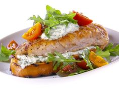 Red Snapper Open-Faced Sandwiches. ♥ That yoghurt sauce!