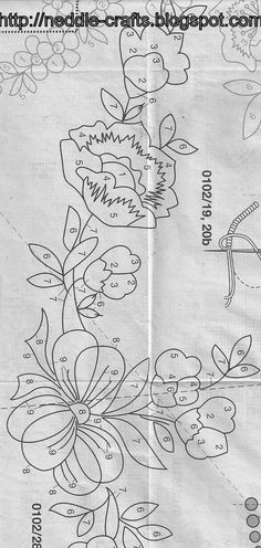 مفرش تطريز يدوي من مجله انا - anna magazine embroidry ~ شغل ابره NEEDLE CRAFTS