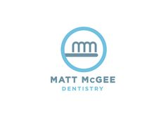 """#Logo for """"Matt McGee Dentistry"""" where the initials are used to form a tooth brush - designed by Matt Lehman Studio"""