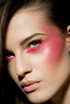 Editorial pink makeup, would love to recreate on deep dark skin.