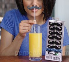 straws with mustaches! Couldn't be that hard!