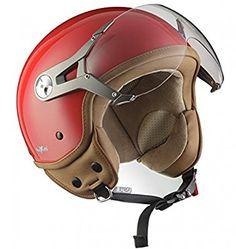 SOXON SP-325-MONO Crystal Blue · Cruiser Pilot Jet-Helmet Chopper Scooter-Helmet Moto-Helmet Bobber Vespa-Helmet Retro Vintage Mofa Biker · ECE certified · incl. Visor · incl. Cloth Bag · Blue · XS (53-54cm)