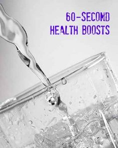Got 60 seconds? How to boost your health and fitness in a minute, flat! via @Fit Bottomed Girls