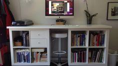 ikea bookcase desk
