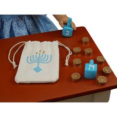 Queens Treasures 18 in. Doll 21 pc Hanukkah Play Accessory Set - AGHAN