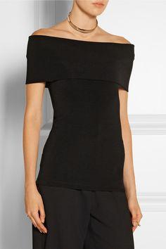 ROSETTA GETTY Off-the-shoulder stretch-ottoman top