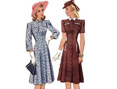 DETAILS McCall pattern # 4170 Dated 1941.  Size 14 Bust: 32 Waist: 27 Hip: 35 (Pattern sizes vary and change; for an accurate fit, refer to