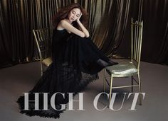 It's Okay, That's Love's Gong Hyo Jin keeps it simple in black as she peeks out from behind a metallic theatrical curtain for the latest volume of High Cut. Asian Actors, Korean Actresses, Actors & Actresses, High Cut Korea, Gong Hyo Jin, Korean Face, Theme Song, Girls Out, Female