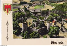 Frankreich - CPSM VIVEROLS 63 Vue aérienne du Chateau et de la route de Medeyrolles