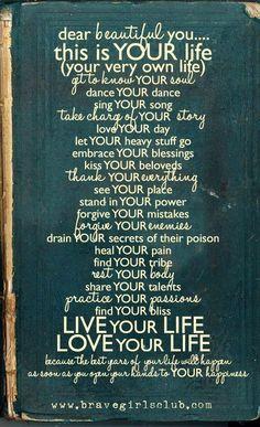Life advice via bravegirlsclub.com