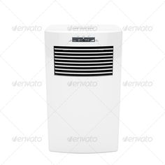 Front view of modern mobile air conditioner. http://photodune.net/item/modern-mobile-air-conditioner/1446412