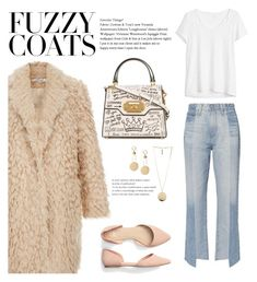 """Fuzzy Coat"" by jojo-valentino ❤ liked on Polyvore featuring AG Adriano Goldschmied, Gap, Dolce&Gabbana, Givenchy and fuzzycoats"