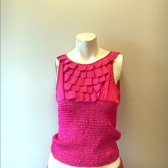 Pink Ruffles top size medium Excellent condition...super work ready Romeo & Juliet Couture Tops Blouses