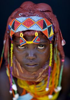 girl from the mwila tribe, angola.