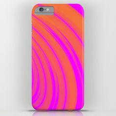Orange & Pink Swirl Pattern iPhone & iPod Case