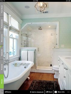 Possible bathroom idea with a shower & clawfoot tub