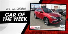 "In the spirit of the love holiday, this weeks Used Car of the Week is the hot red 2018 Mitsubishi Eclipse Cross SEL! Stop in and ""fall in love"" with this Eclipse Cross today at Bell Mitsubishi! Mitsubishi Cars, Mitsubishi Mirage, Mitsubishi Eclipse, Mitsubishi Lancer, Outlander Phev, Lease Specials, Trade In Value, Sports Today, Tonneau Cover"