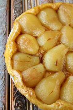 French Dessert Recipe: Pear Tarte Tatin
