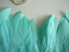 Hey, I found this really awesome Etsy listing at https://www.etsy.com/listing/158068763/goose-feather-fringe-tiffany-blue-818