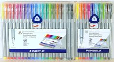 Staedtler Triplus Fineliner 0.3 mm Porous Point Pens 10 Colors or 20 Colors  | Crafts, Art Supplies, Drawing & Lettering Supplies | eBay!