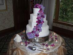 Wedding cake at Boulder Ridge Country Club on 10-3-14.