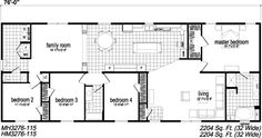4 bedroom single storey house plans - Google Search