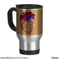 Human Heart Art 15 Oz Stainless Steel Travel Mug