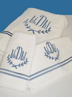 Custom Embroidered Luxury Monogrammed Bath Towels