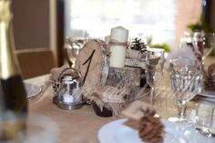 Rustic wedding numbers of tables