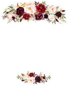 Free Vintage Floral Border Templates