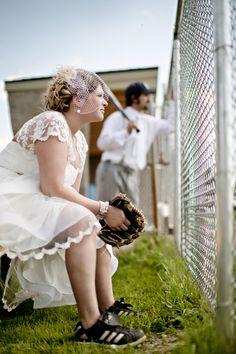 Baseball themed wedding by Dana Widman Photography
