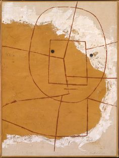 Paul Klee , One Who Understands ,1934. Oil and gypsum on canvas. 21 ¼ x 16 in. (54 x 40.6 cm).