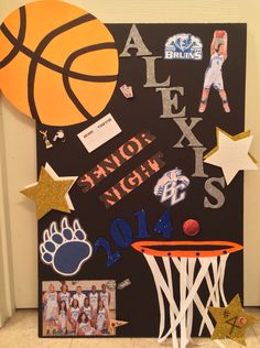 Senior Night Poster Bear Creek High School Bruins  Lady Bruins Girls Basketball