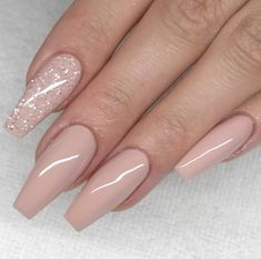 60 simple acrylic coffin nails designs ideas for 2019 # nailsart . - 60 simple acrylic coffin nails designs ideas for 2019 # nailsart - Mauve Nails, Glitter Nails, My Nails, Pink Glitter, Light Pink Nails, Long Nails, Long Nail Art, Glitter Acrylics, Cute Acrylic Nails
