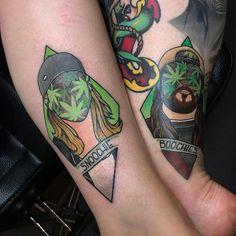 Weed Tattoo, Plant Tattoo, S Tattoo, Color Tattoo, Dope Tattoos, New Tattoos, Small Tattoos, Old School Tattoo Designs, Best Tattoo Designs