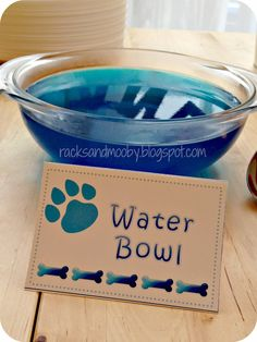 Puppy Party Water Bowl (Blue Jello)