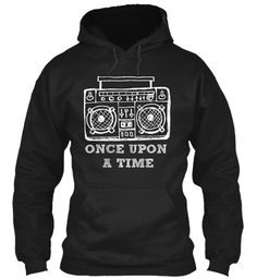 Once Upon   A Time Black T-Shirt Front