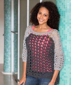 Colour Block Top Crochet Pattern | Red Heart