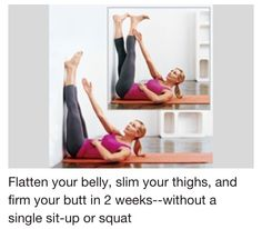 Flat belly, slim thighs