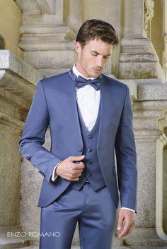 ¡Apuesta por el color azul! Encuentra el traje que mejor se adapte a ti en http://www.enzoromano.com/ceremonia-2016/