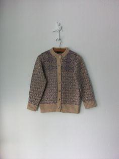 Nordic Cardigan Sweater ... Wool Snowflake by sparvintheieletree