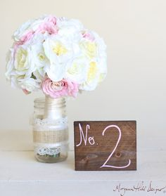 Wedding Table Numbers Wood Barn Wedding (Item Number 140358) NEW ITEM on Etsy, $4.00