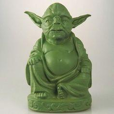 Escultura de Buda con caras personalizables (sí es Yoda). Todo diseñado en 3D