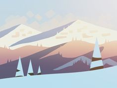 Part of a series of early concepts for an upcoming iOS project - More details to follow soon!  [edit] Alto's Adventure is available now on the App Store!