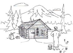 logging coloring pages