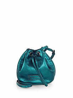 I already dream about this bag! Marc by Marc Jacobs Too Hot Metallic Drawstring Mini Shoulder Bag