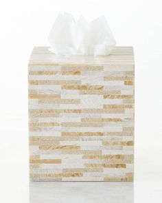 Stone Tile Mosaic Tissue Box Cover